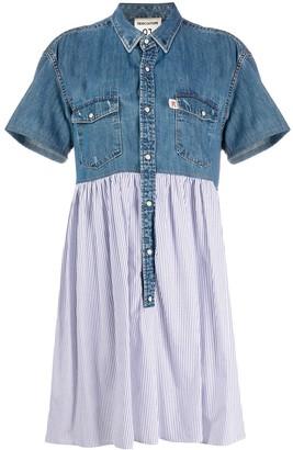 Semi-Couture Denim Panel Shirt Dress