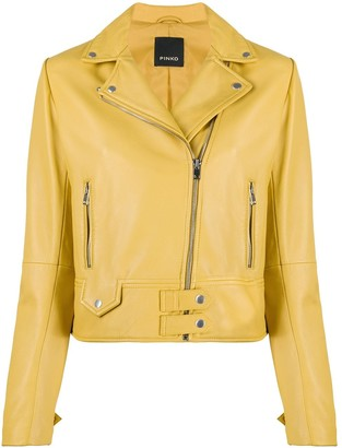 Pinko Fitted Biker Jacket