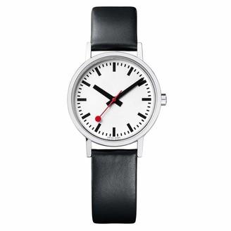 Mondaine Women's SBB Stainless Steel Swiss-Quartz Watch with Leather Strap Black (Model: A658.30323.16OM)