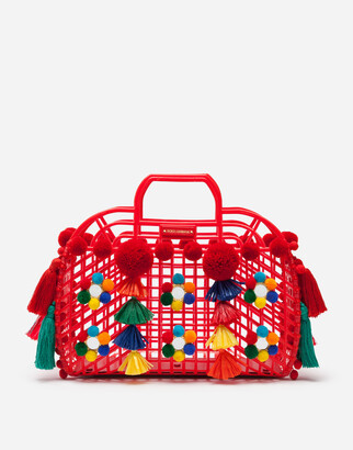 Dolce & Gabbana Pvc Kendra Shopping Bag With Embroidery