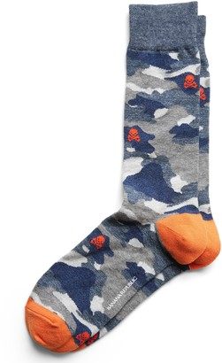 Banana Republic Camo Skulls Sock