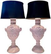 One Kings Lane Vintage,  Lamp, Lavender/gold/Shade, Black, In Stock