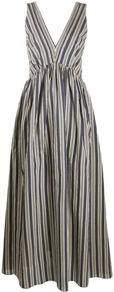 Brunello Cucinelli Striped Maxi Dress