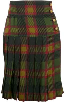 Saint Laurent Pre-Owned tartan mini skirt