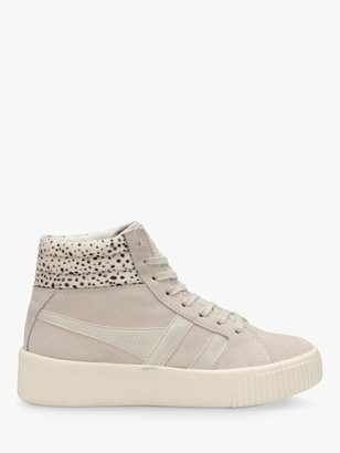 Gola Baseline Savanna Hi-Top Trainers, Off White/Cheetah