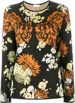 Dries Van Noten Negotiate floral intarsia top