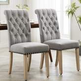 Fatima Tufted Linen Upholstered Parsons Chair Charlton Home Upholstery Color: Gray