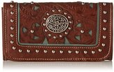 American West Lady Lace Tri-Fold Wallet