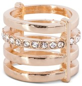 Women's 4 Row Ring - Gold/Crystal (7)