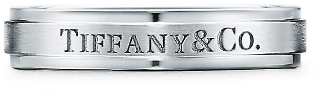 Tiffany & Co. satin-finish band ring in platinum, 4 mm wide