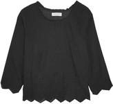 Velvet by Graham & Spencer Embroidered cotton-blend top