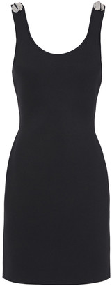 3.1 Phillip Lim Button-embellished Cutout Ponte Mini Dress