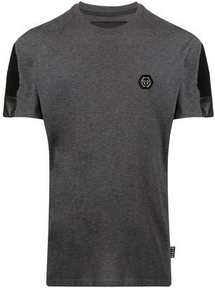 Philipp Plein ribbed sleeve detail cotton T-shirt