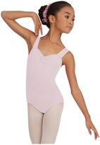 Capezio Youth Tactel Wide Strap Leotard, Pink-SM 4/6