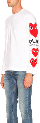 Comme des Garcons Logo Tee in White | FWRD