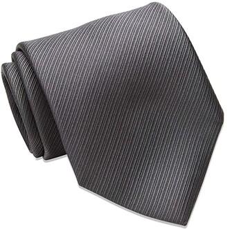 David Donahue Twill Weave Italian Silk Neck Tie (Black/White) Ties