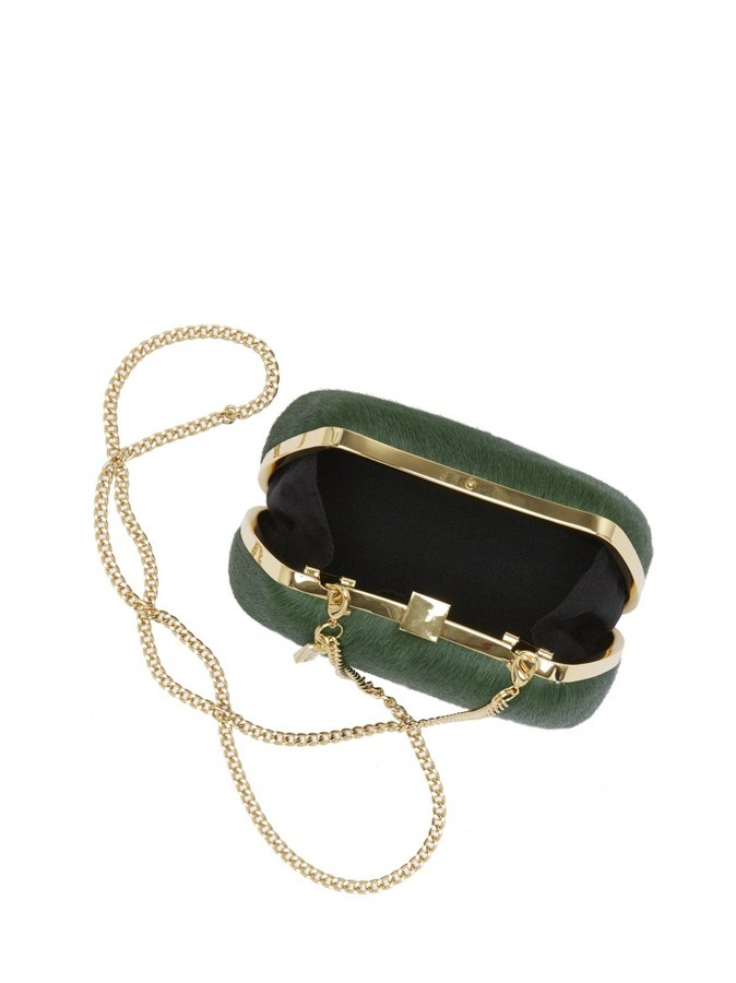 Alice + Olivia Ella Calf Hair Clutch