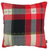 Threshold Red Plaid Throw Pillow with Stitching