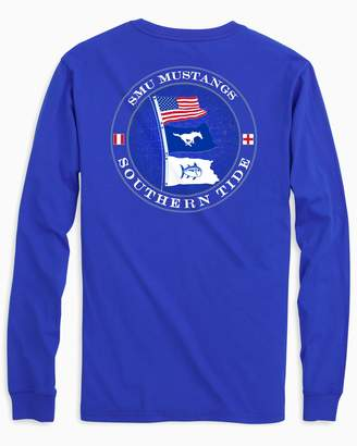 Southern Tide SMU Mustangs Flags Long Sleeve T-Shirt