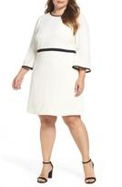 Eliza J Plus Size Women's Bell Sleeve Fit & Flare Dress