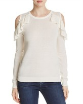 Vero Moda Ruffle Cold Shoulder Sweater