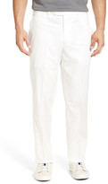 JB Britches Torino Flat Front Solid Cotton Trouser