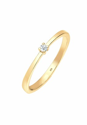 Diamore Women's Gold Solitaire Engagement Ring Q 0605980718_56