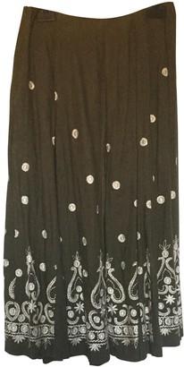 Dries Van Noten Khaki Linen Skirts