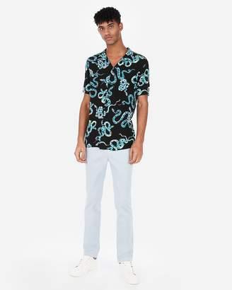 Express Slim Snake Revere Collar Shirt