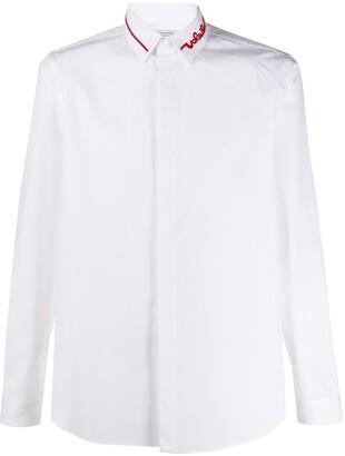 Valentino Logo Collar Shirt