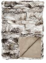 Adrienne Landau Pieced Fur Throw