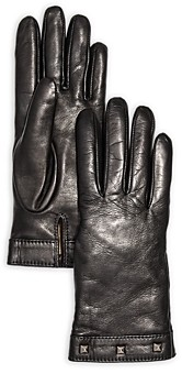 Bloomingdale's Studded Leather & Cashmere Gloves - 100% Exclusive
