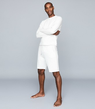 Reiss Tyne - Jersey Shorts in Soft Grey