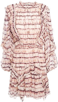Ulla Johnson Ruffled Printed Silk-crepon Mini Dress