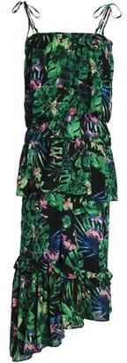 Tasha W118 By Walter Baker Ruffled Floral-print Crepe De Chine Midi Dress