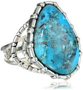 """Barse Silhouette"""" Sterling Silver Turquoise Abstract Ring, Size 7"""