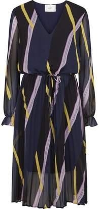 Just Female Gala Dress - XS - Blue/Yellow/Purple
