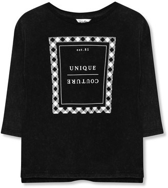 M&Co Unique couture slogan top (3-12yrs)
