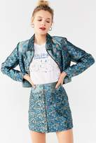 Urban Outfitters Western Floral Button-Down Skirt