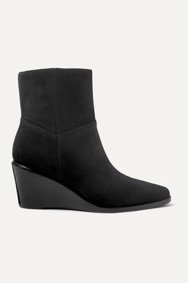 Vince Mavis Suede Wedge Ankle Boots - Black