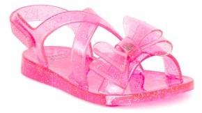 First Steps by Stepping Stones First Walker Criss-Cross Bow Jelly Sandals (Infant Girls)