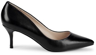 Saks Fifth Avenue Point-Toe Leather Pumps