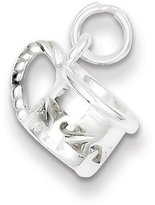 jewelryPot Sterling Silver Polished Mug Charm (0.6IN long x 0.4IN wide)