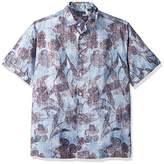 Cubavera Men's Short Sleeve allover Tropical Print Shirt