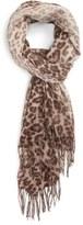 Nordstrom Animal Print Wool & Cashmere Wrap