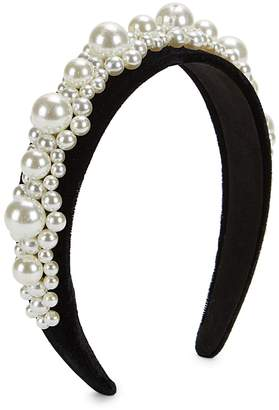 Bindya Lulla Collection By Embellished Faux Pearl Headband
