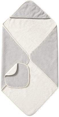 Pottery Barn Kids Accent Stitch Hooded Towel, Wrap & Wash Cloth Set, Ivory