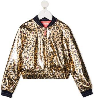 Billieblush Leopard-Print Bomber Jacket