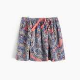 J.Crew Girls' pull-on skirt in paisley
