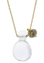 Ten Thousand Things Crystal and Diamond Bead Drop Necklace in Yellow Gold